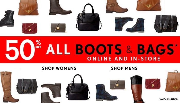 Black Friday Starts Now! 50% Off Boots & Bags!