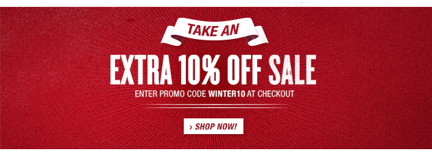 Extra 10% Off sale items with promo code WINTER10
