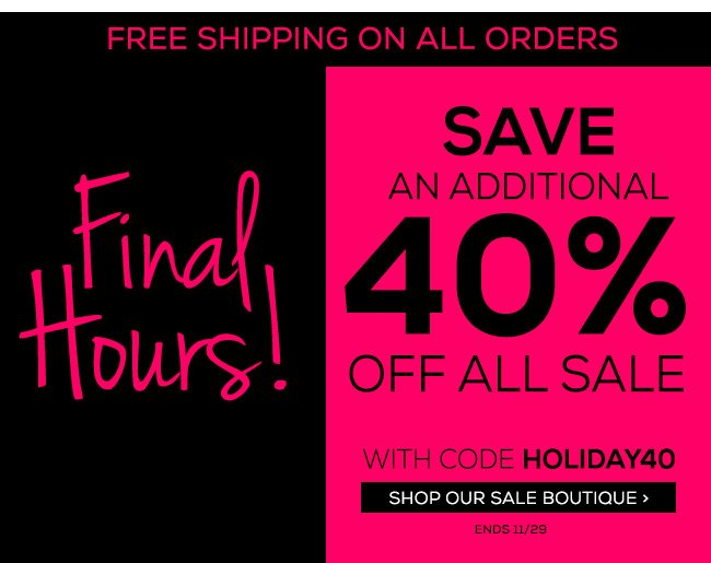 Black Friday Final Hours