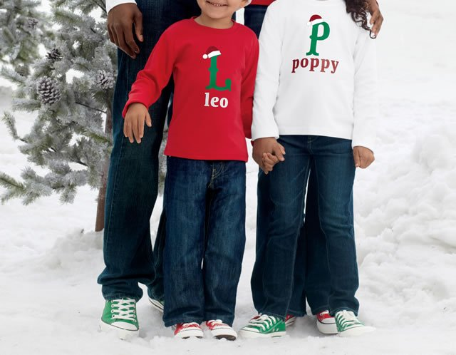 shop select personalized holiday tees