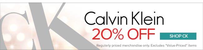Calvin Klein - 20% Off