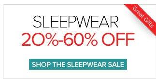 Sleepwear 20% - 60% Off