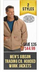 Mens Gibson Work Hoodies
