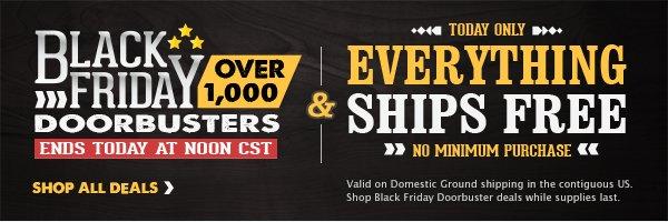 Shop 1000 Black Friday Doorbusters