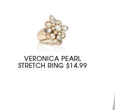 Veronica Pearl Stretch Ring