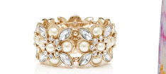 Veronica Pearl Crystal Bracelet