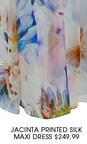 Jacinta Printed Silk Maxi Dress