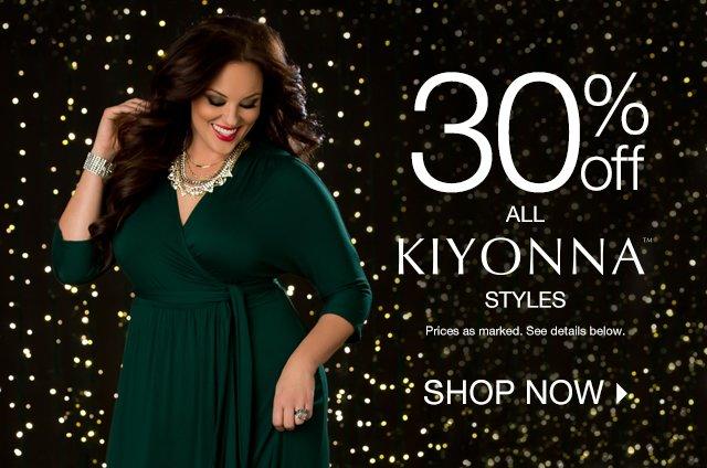 Shop 30% off all Kiyonna Styles