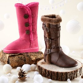 Faux Fur Best: Girls' Boots