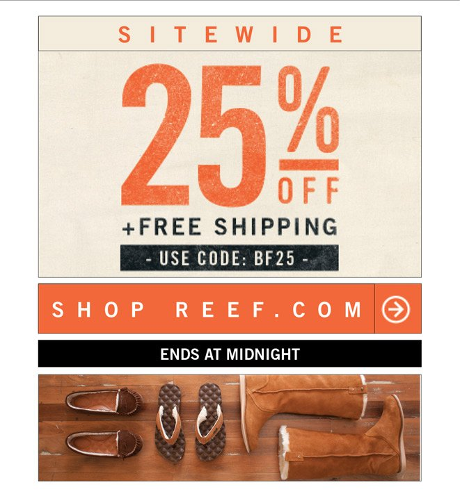 ? Last Day. 25% OFF EVERYTHING +Free Shipping. Ends at Midnight. Clock's Ticking