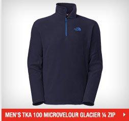 MEN'S TKA 100 MICROVELOUR GLACIER ¼ ZIP