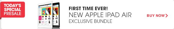 TODAY'S SPECIAL PRESALE | FIRST TIME EVER! NEW APPLE IPAD AIR EXCLUSIVE BUNDLE | BUY NOW