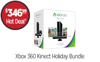 Xbox 360 Kinect Holiday Bundle - $346.99 - HOT DEAL‡