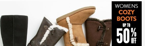 Women's Cozy Boots up to 50% Off!
