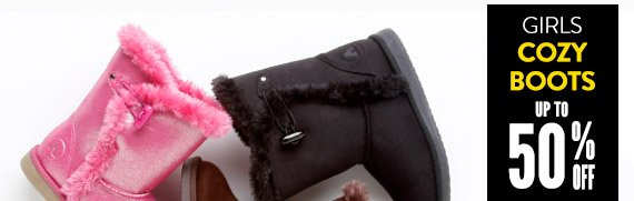 Girls' Cozy Boots up to 50% Off!