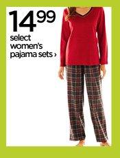 14.99 select women's pajama sets›