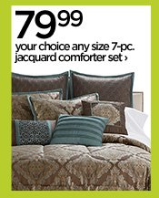 79.99 your choice any size 7-pc. jacquard comforter set›