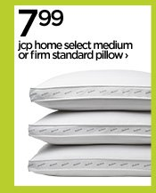 7.99 jcp home select medium or firm standard pillow›