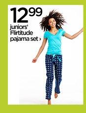 12.99 juniors' Flirtitude pajama set›