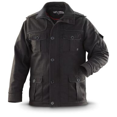 Sportier® Wool-blend Military-style Coat