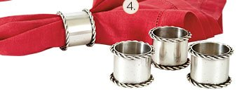Southern Living Collectable Napkin Rings - Set of 4