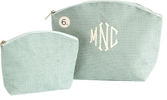 Set of 2 Ballard Jute Cosmetic Bags