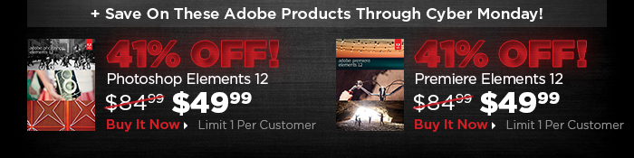 Plus Save on these other Adobe Deals through Cyber Monday!