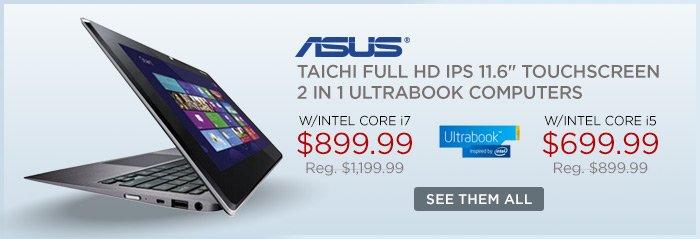 Adorama - Asus Taichi Touchscreen 2 in 1 Ultrabook Computer