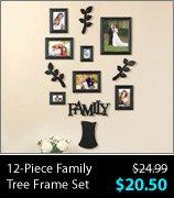12-Piece Family Tree Frame Set