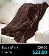 Faux Mink Throw