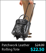 Patchwork Leather Rolling Tote