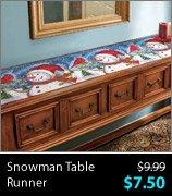 Snowman Table Runner