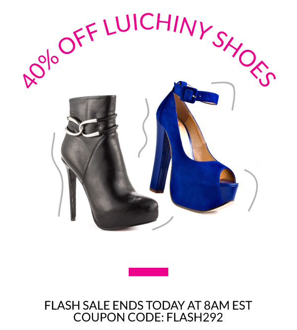 40% Off Luichiny Shoes with Coupon Code FLASH292. Flash Sale Ends at 8am EST!