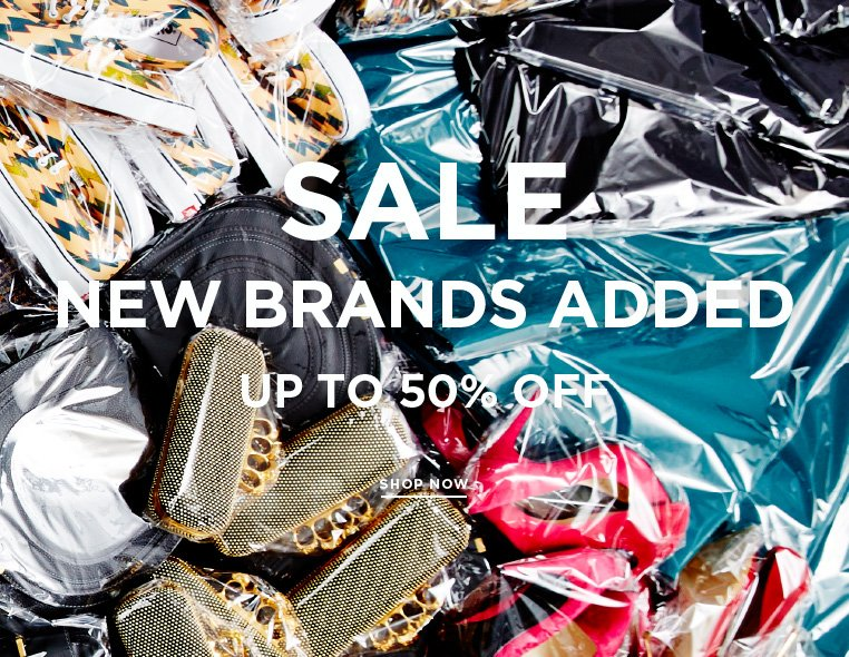 Attention Shoppers: New brands added to the sale New brands marked down at up to 50% off