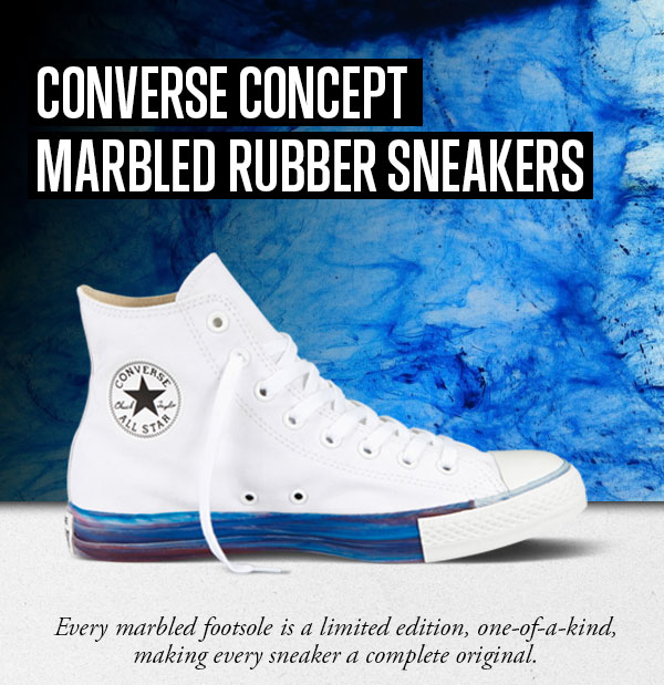 CONVERSE CONCEPT - Marbled Rubber Sneakers