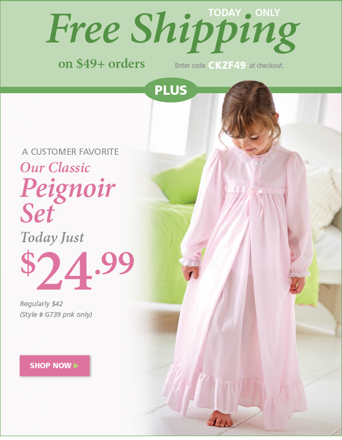 Black Friday Special: Peignoir Set for $24.99