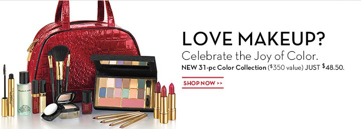 LOVE MAKEUP? Celebrate the Joy of Color. NEW 31-pc Color Collection ($350 value) JUST $48.50. SHOP NOW.