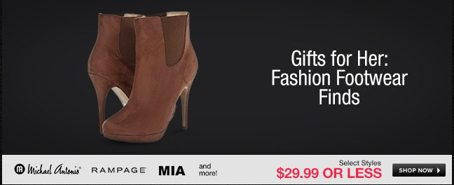 Gifts for Her: Fashion Footwear Finds