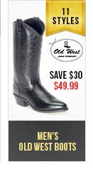 Mens Old West Boots