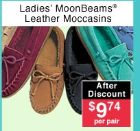 Ladies' Leather Moccasins