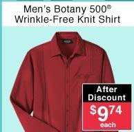 Men's Wrinkle-Free Knit Shirt