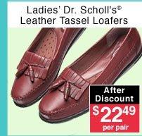Ladies' Leather Tassel Loafers