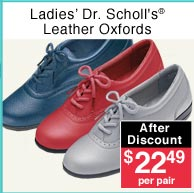 Ladies' Leather Oxfords
