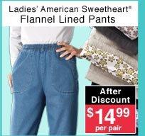 Ladies' Flannel Lined Pants
