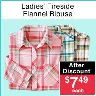 Ladies' Flannel Blouse