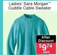 Ladies' Cuddle Cable Sweater