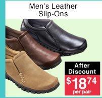 Men's Leather Slip-Ons