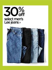 30% off select men's Lee jeans ›