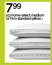 7.99 jcp home select medium or firm standard pillow ›