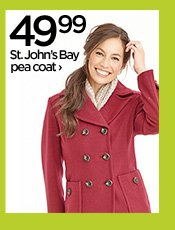 49.99 St. John's Bay pea coat ›